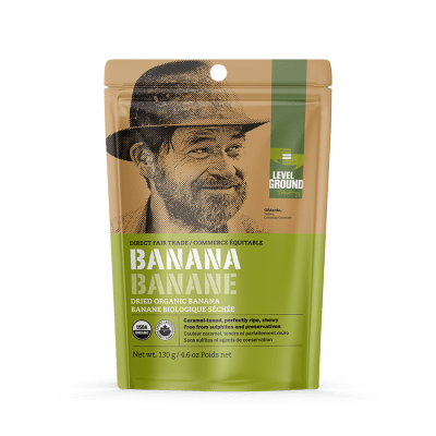 Level Ground dried banana (fair trade, organic) - Rosette Fair Trade