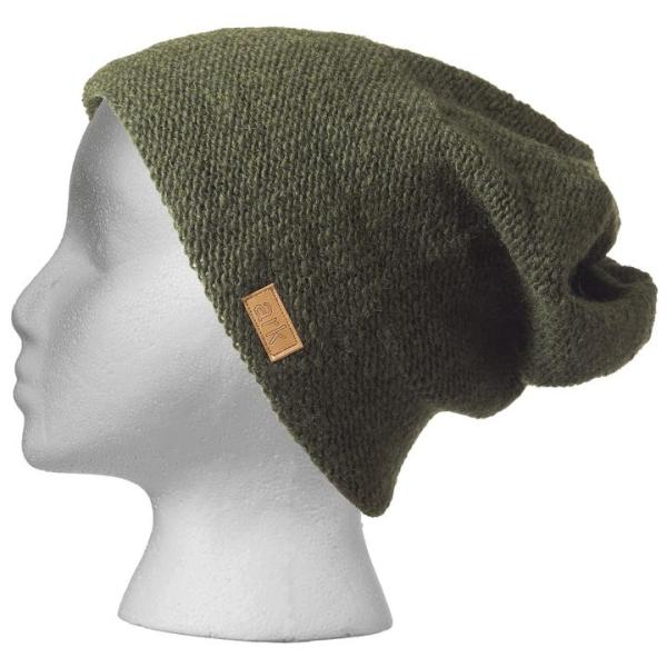 Fair trade slouchy hat (Parkdale) by Ark Imports in forest green colour on Rosette Fair Trade