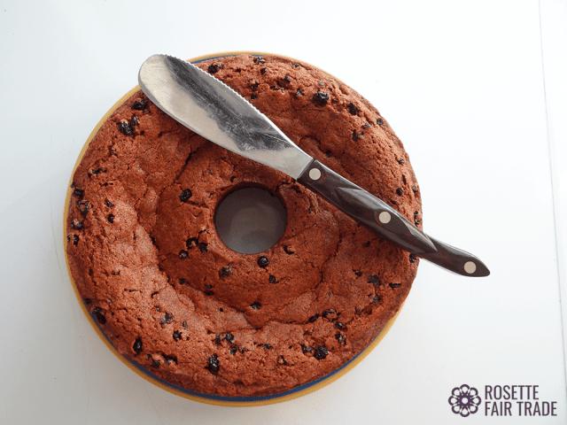 Grannys vegan raisin spice cake recipe on Rosette Fair Trade