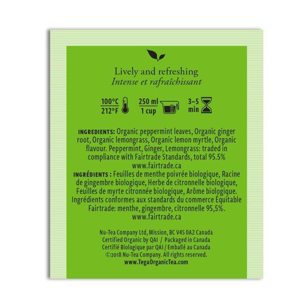 Ginger Mint herbal tea from Tega Organic Tea (fair trade, organic) on Rosette Fair Trade store