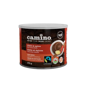 Camino Chili and Spice Hot Chocolate on Rosette Fair Trade