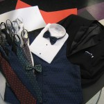 Leonardo Vest and long ties and matching bows
