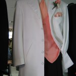 Cannes White 5 button tuxedo rental coat
