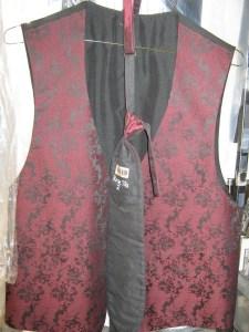 Burgundy Paisley vest and tie