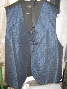 Blue vest for prom and weddings