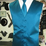 Tiffany blue Vest and Tie