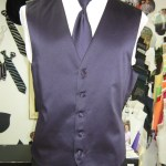 Purple vest and matching long tie