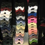 colorful display of out tuxedo bow ties