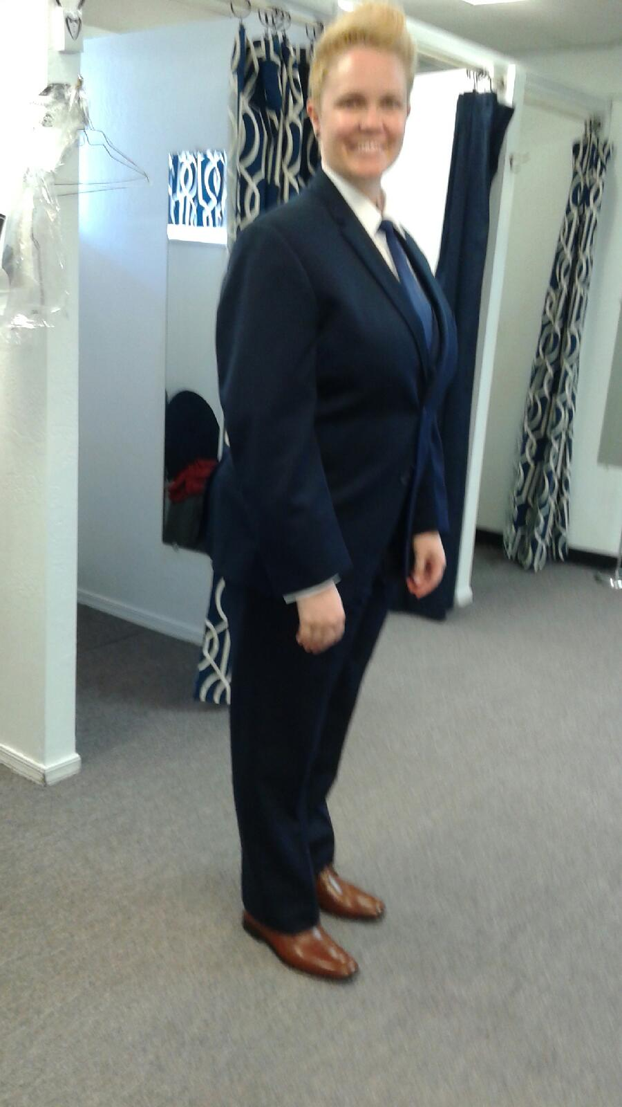 Tuxedos for Women have become very popular- Rose Tuxedo