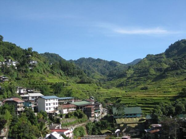 Banaune, Filipinas, antes de salir al Trekking alos arrozales