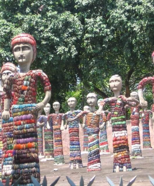Jardín diseñado por Chand, Chandigarh
