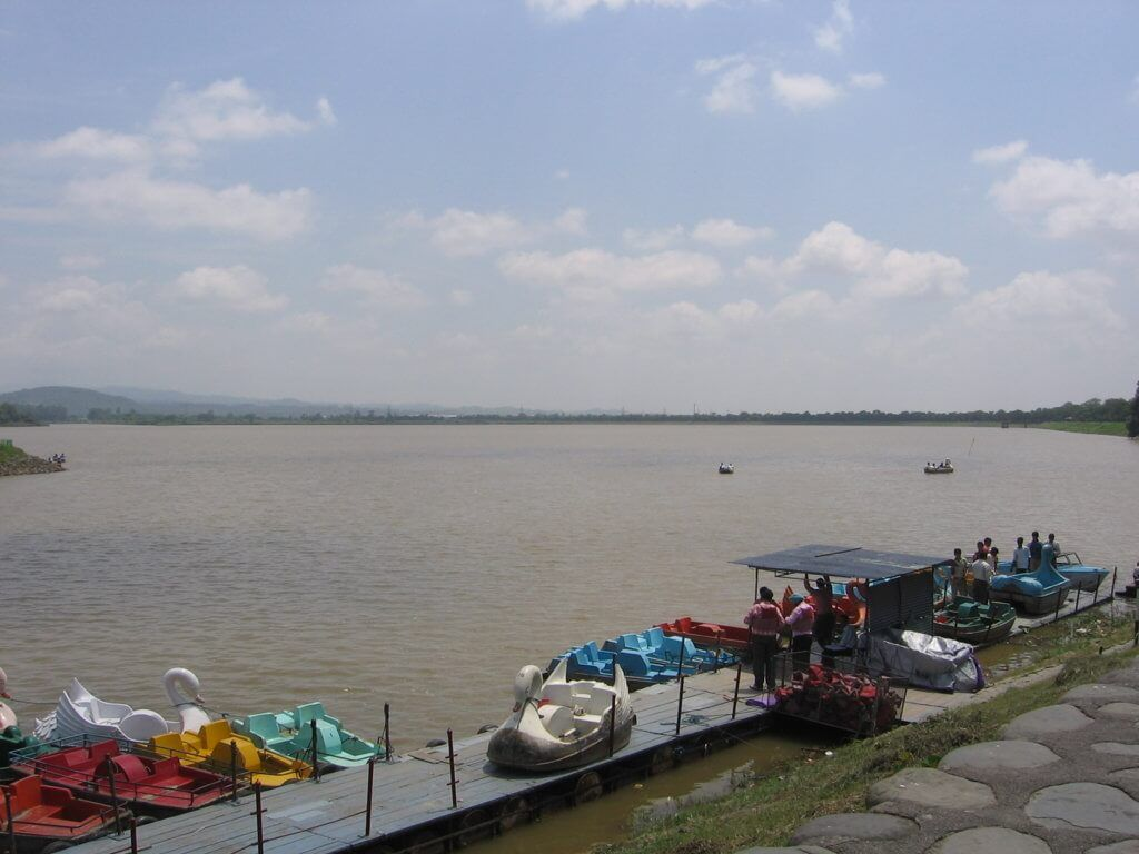 Sukhna Lake, Chandigarh, India.