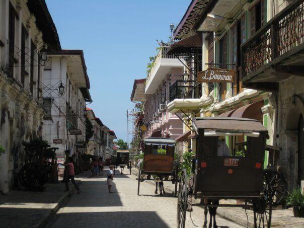Vigan, antigua ciudad colonial española en Filipinas.