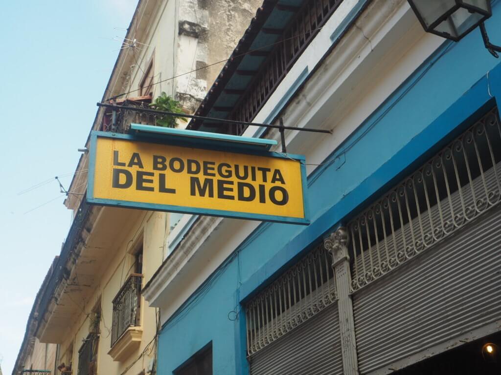 La Bodeguita del medio, uno de los emblemas en La Habana.