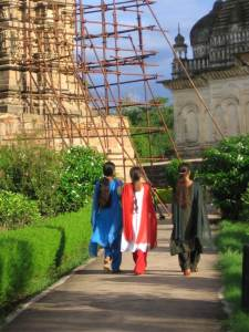 Mujeres en Khajuraho