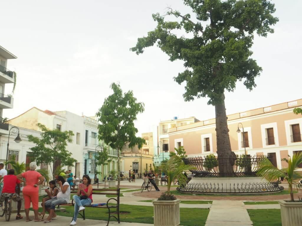 Plaza en Camagüey.