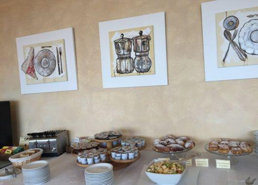 Desayuno en el Hotel Italia, Cortona
