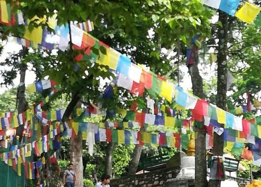 Subida a la estupa de Swayambhunath o templo de los monos