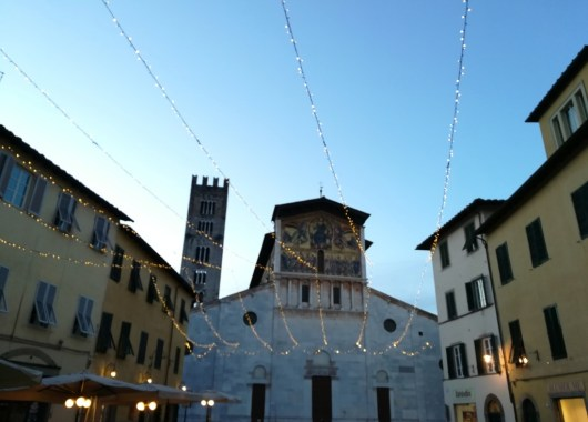 Lucca en la Toscana, visita en diciembre.