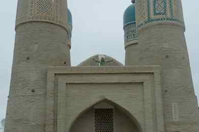 Madrasa de Chor Minor en Bhukara, Uzbekistán