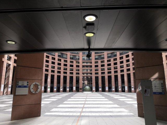 0El Parlamento Europeo en Estrasburgo, Francia