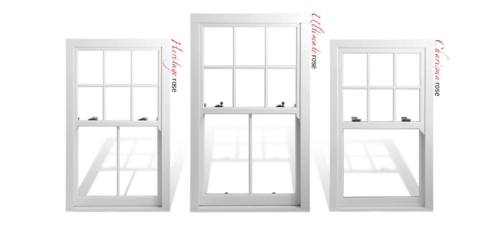 The Rose Collection uPVC sash windows
