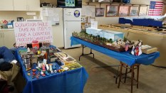 Our Clubs donation table. 50% of the proceeds go to the Shriners Hospital. By the end of the day on Sunday, everything had gone!