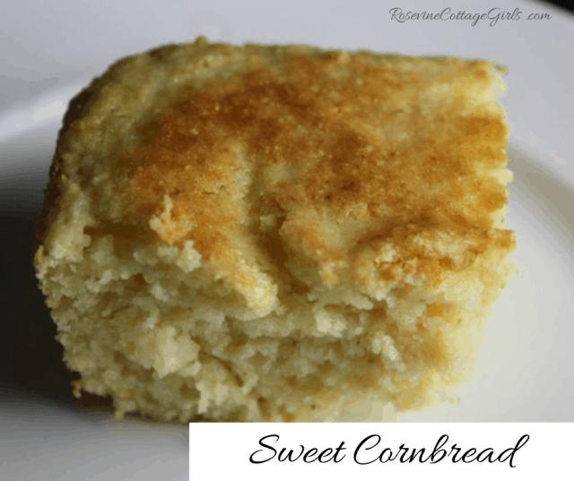 Sweet Cornbread, Homemade Cornbread, Cornbread  from scratch, by Rosevine Cottage Girls