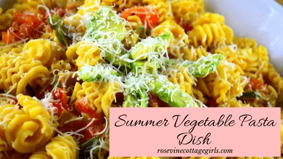 Delicious Italian Summer Vegetable pasta sauce dish recipe