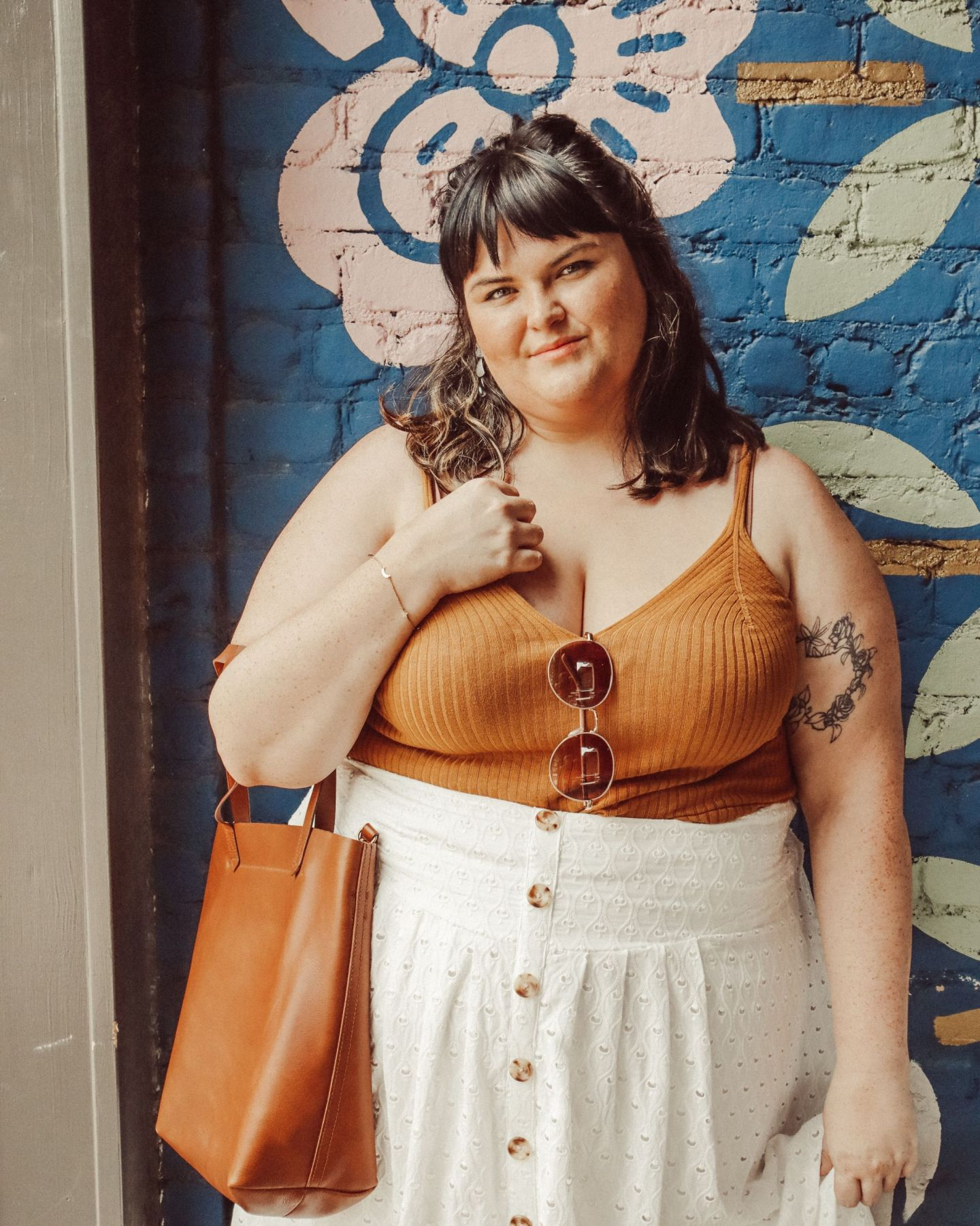 anthropologie plus size curvy outfit
