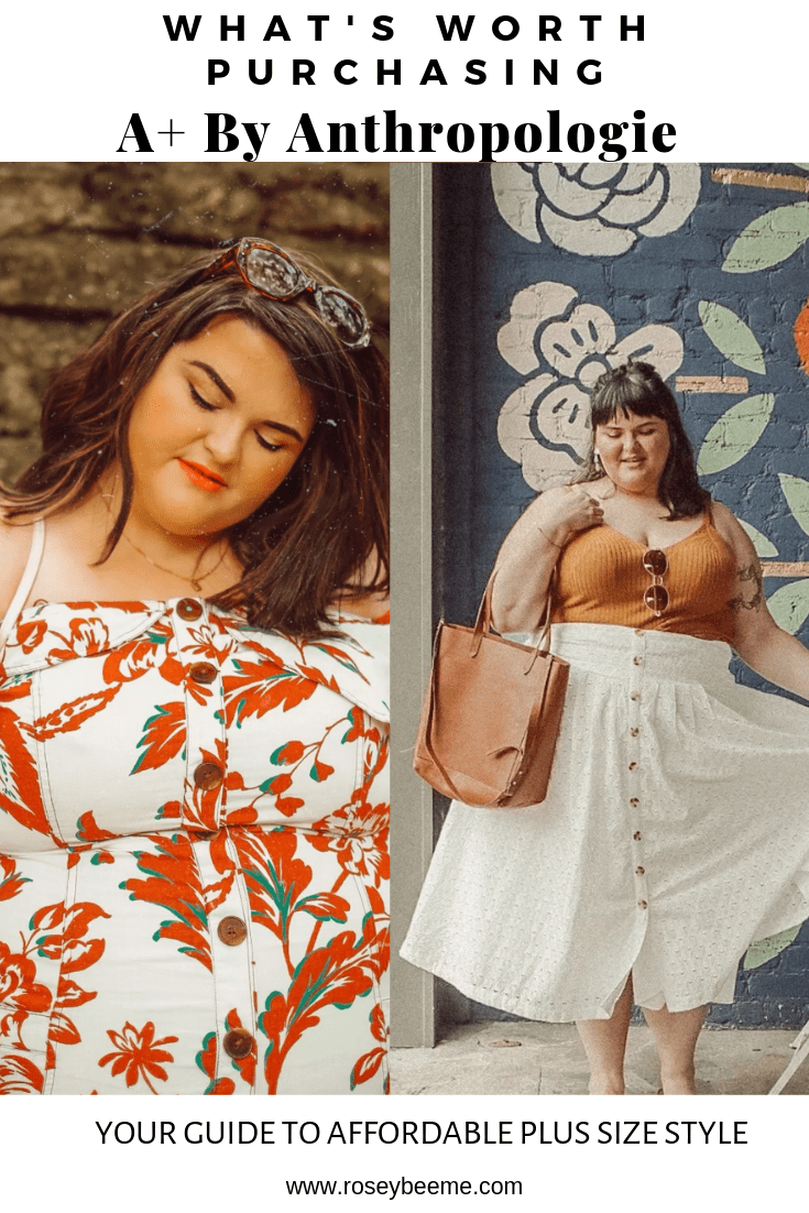 plus size anthropologie on a budget