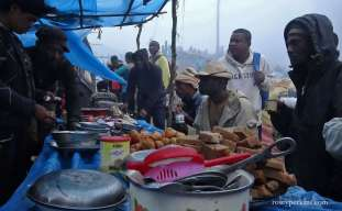 "Breakfast at ""rush site"" near Ambatondrazaka, Madagascar. October 2016."