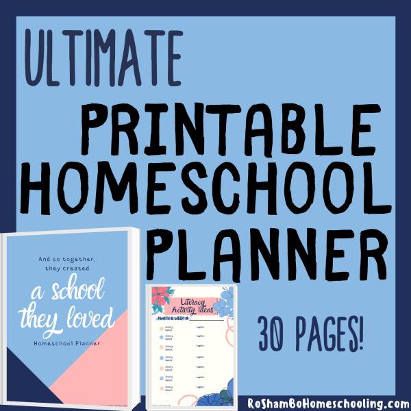 RoShamBo Homeschooling printable ultimate homeschool planner
