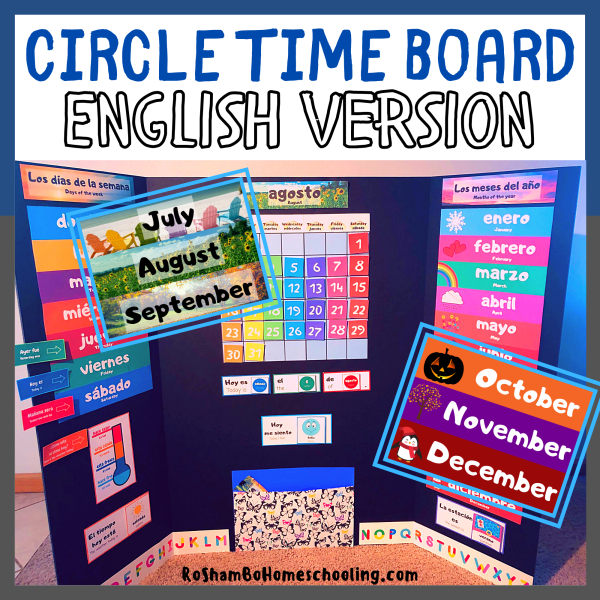 RoShamBo Homeschooling circle time board English version