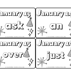 Sight Word of the Day Color Calendar — 1st Grade   RoShamBo Homeschooling [ 791 x 1024 Pixel ]