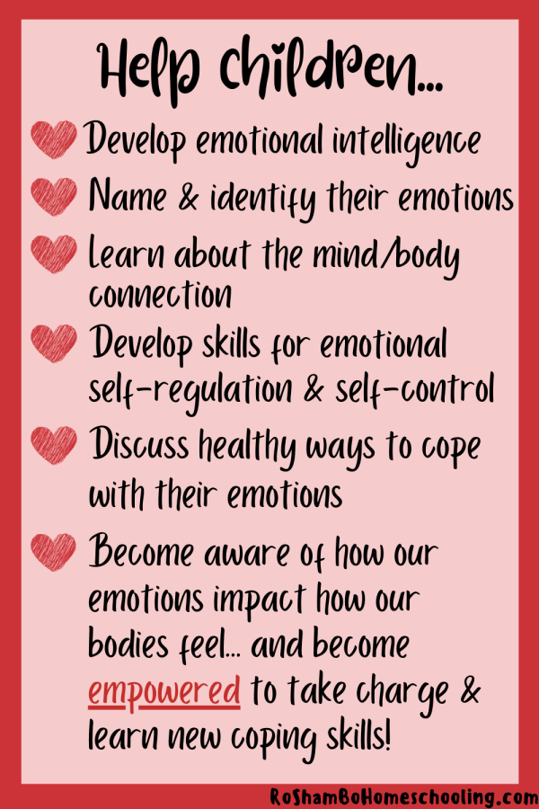 RoShamBo Homeschooling printable hearts and body maps feeling emotions in the body activity for valentine's day for developing emotional intelligence