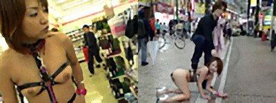 過激衣装でショッピング&商店街露出歩行