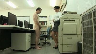 着衣女性と裸の男・ボディコンお姉さん編サンプル2