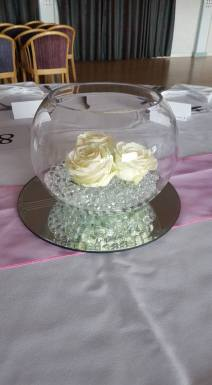 Fish bowl with roses