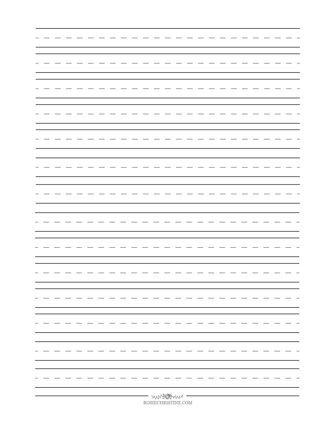 Cursive Blank Worksheets Rosie Christine