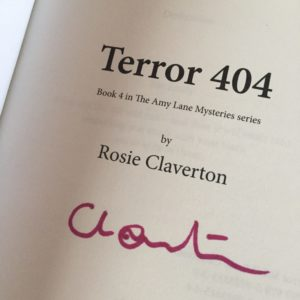 Signed copy of Terror 404