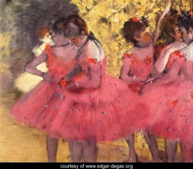 Dancers In Pink Painted by: Edgar Degas A Landscape