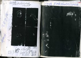 black photocopied stripping back the colour of my work so its very tense and the excitment of it has gone here my faces are no longer showing creating a scared nervous appeal which I wanted in my negaitive side of my book all 3. my insecurities shown in collage.