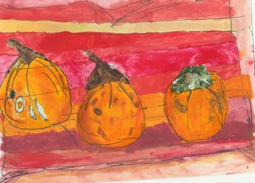 Take 2 Dads Courgettes X3 13.9.16 Painting Drawing Ink