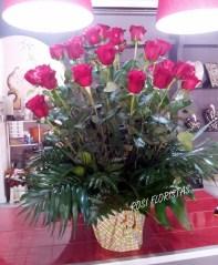Centro de rosas para tanatorio