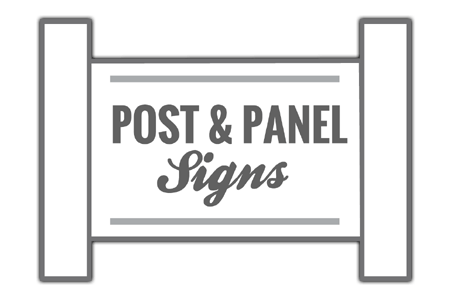 Post and Panel Sign Icon