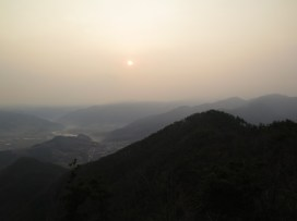 Sunrise from the top of Sasungam Hermitage