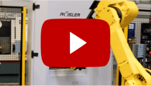 Drag finishing machine linked to a machining centre and metrology equipment providing 'lights out' fully automated production, finishing and dimensional inspection