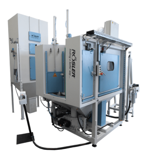 Rosler shot blasting wet blast machine