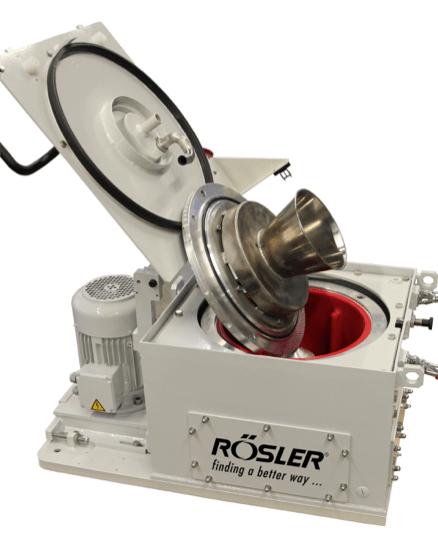 Rosler's Z 800 centrifuge is semi-automatic.